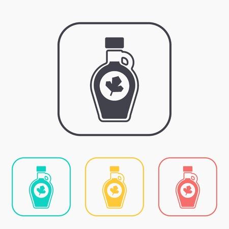 sap: kitchen icon of mapple syrup bottle Illustration