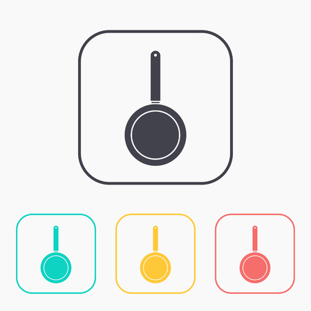 keuken icoon van de pan