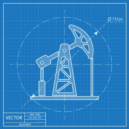Oil pump jack vector blueprint icon royalty free cliparts vectors oil pump jack vector blueprint icon stock vector 54207447 malvernweather Image collections