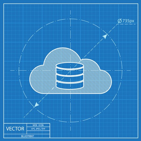 Cloud computing blueprint icon vector illustration royalty free cloud computing blueprint icon vector illustration stock vector 54272964 malvernweather Image collections