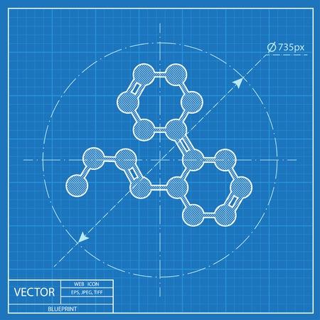 formula: Chemical formula blueprint icon