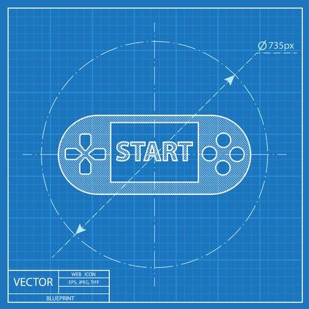 handheld: Handheld game console blueprint icon