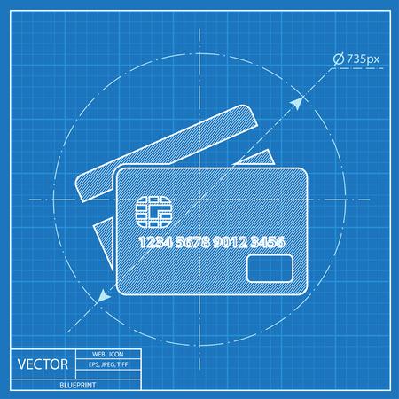 transact: Credit card blueprint icon