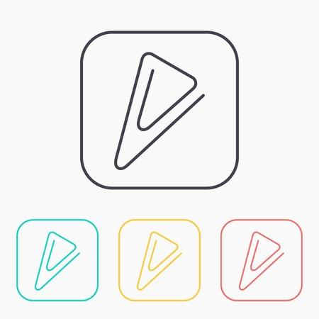 fastener: color icon set of paper clip