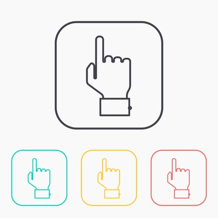 color icon set of point hand Illustration
