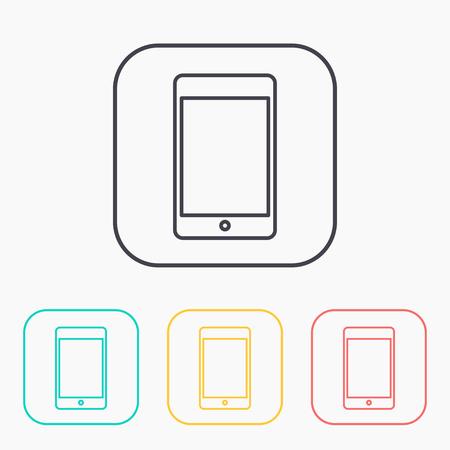 smartphone icon: color icon set of smartphone