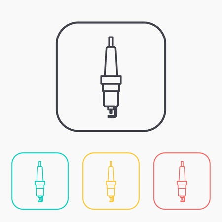 ignition: color icon set of spark-plug