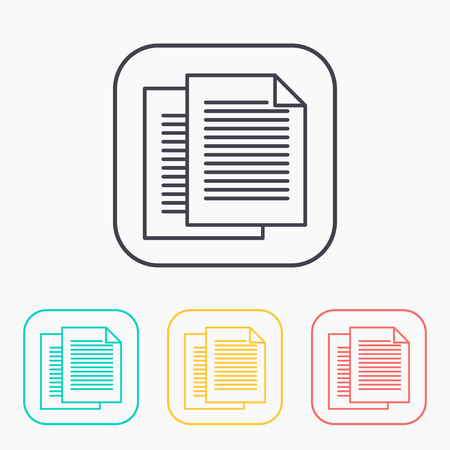 document icon: color icon set of documents Illustration
