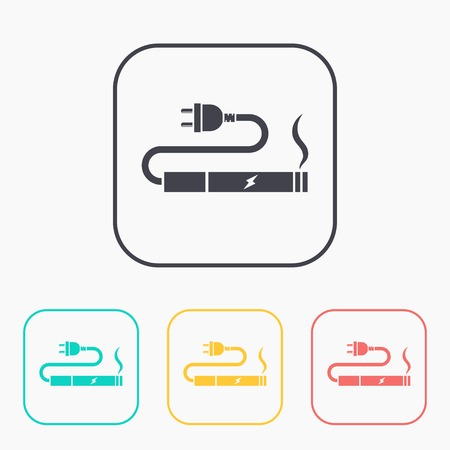 charge: electronic cigarettes charge color icon set
