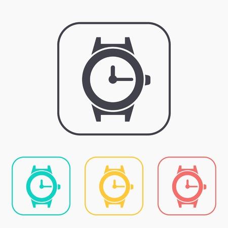 wrist: wrist watch color icon set