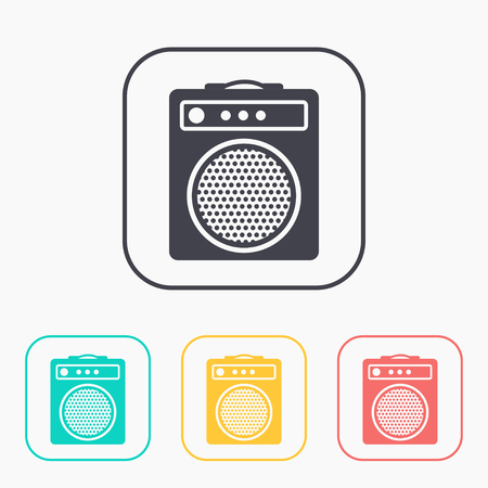 guitar amplifier: guitar amplifier color icon set Illustration