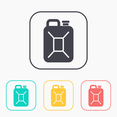 canister: fuel canister color icon set