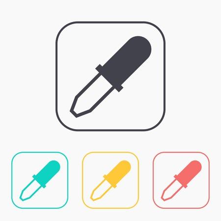pipette: color icon set of pipette Illustration