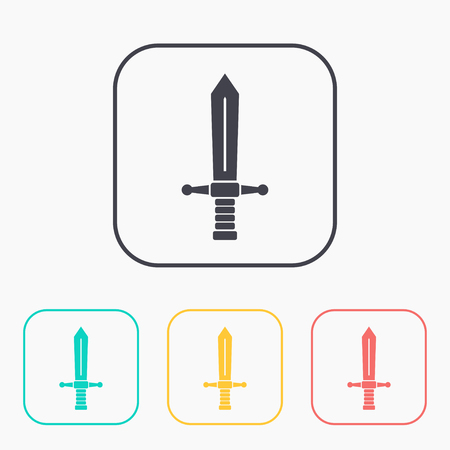 medieval sword: medieval sword vector color icon set Illustration