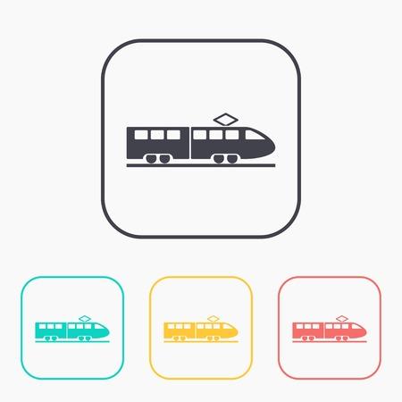locomotion: speed train vector color icon set