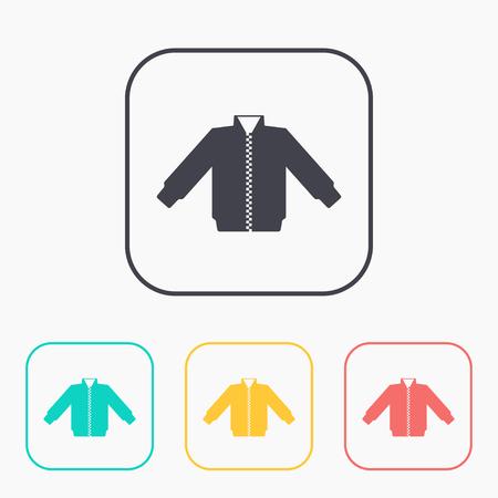 warmed: casual jacket vector color icon set