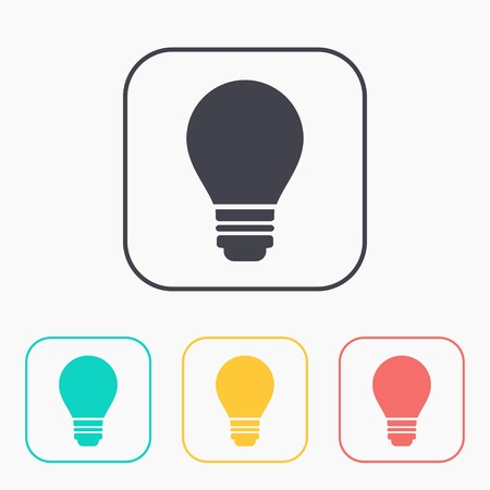 electric bulb: electric bulb vector color icon set Illustration