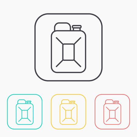 canister: fuel canister outline color icon set