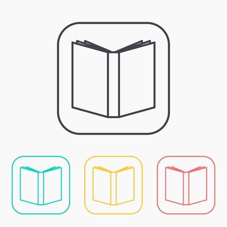 graphic novel: open book color icon set Illustration