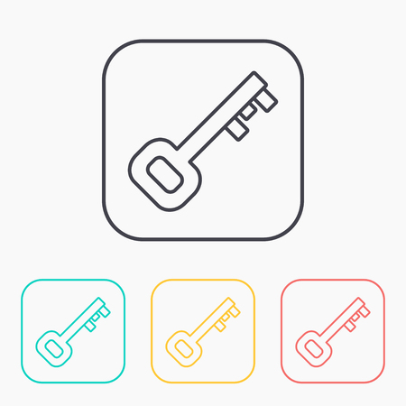 passkey: Old key color icon set