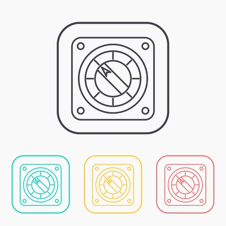 turn dial: vector icon of gauge