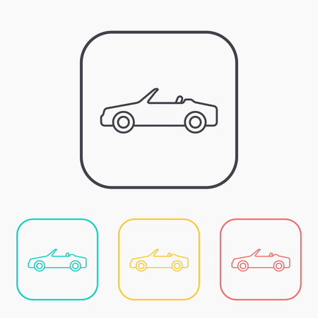 cabriolet: Vector icon of cabriolet Illustration