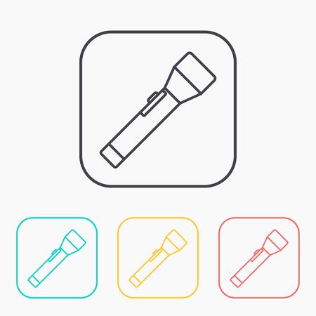 lighten: Flashlight simple vector icon