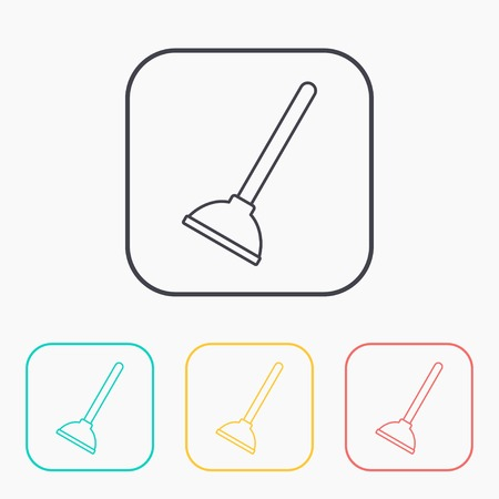 plunger: Toilet Plunger vector icon