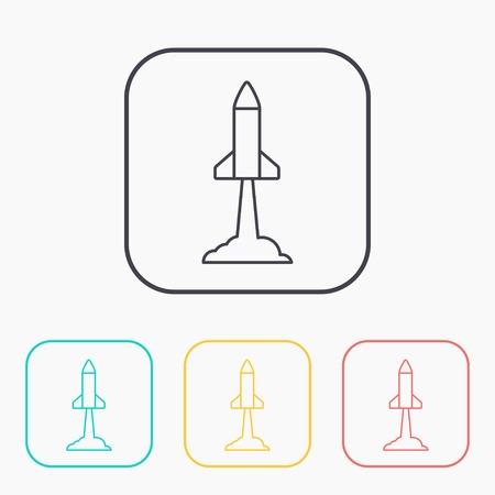 execute: Starting rocket vector icon