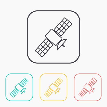 transponder: satellite simple vector icon