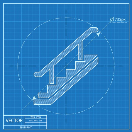 203 stair railing stock illustrations cliparts and royalty free blueprint style malvernweather Image collections