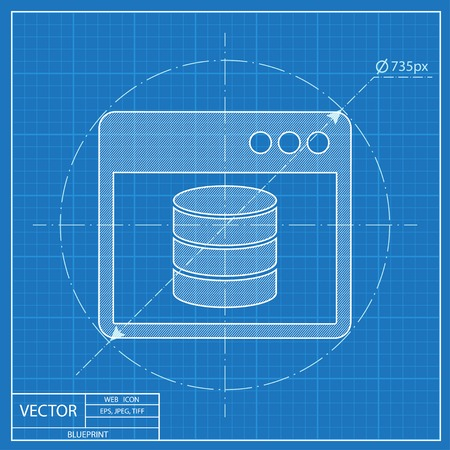 Database folder blueprint style royalty free cliparts vectors and blueprint style vector malvernweather Image collections