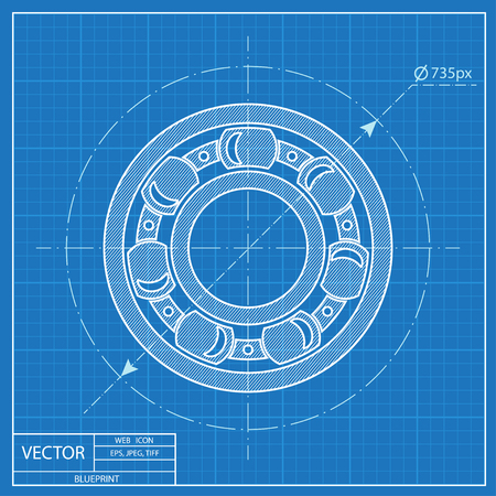 blueprint icon of bearing