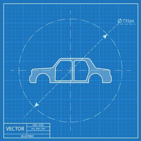 Icon of car body blueprint style royalty free cliparts vectors 55724427 blueprint icon of car body malvernweather Choice Image