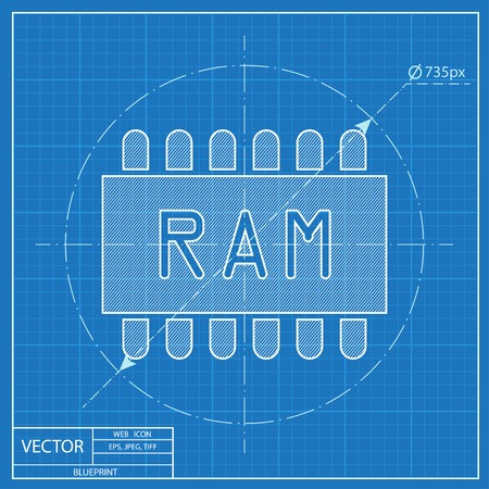Blueprint icon of memory chip royalty free cliparts vectors and blueprint icon of memory chip stock vector 55724505 malvernweather Image collections