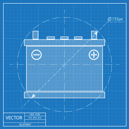 accumulator: blueprint icon of accumulator