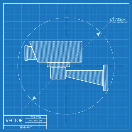 monitored area: blueprint icon of camera