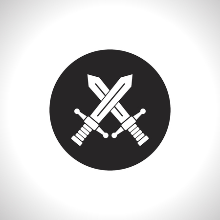 broadsword: crossed swords vector icon