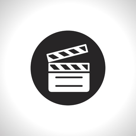 clapperboard: film clapperboard vector icon