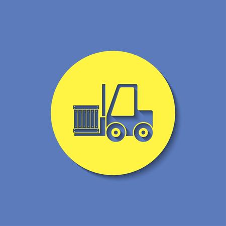 fork lifts trucks: loading forklift vector icon