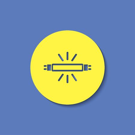 fluorescent lamp: fluorescent lamp vector icon Illustration