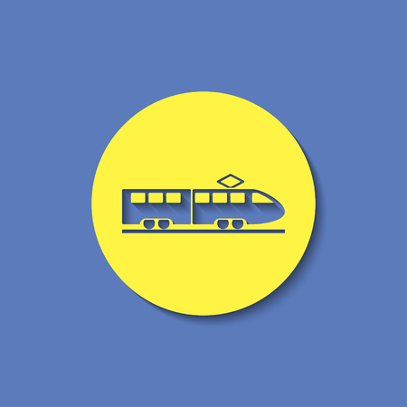speed: speed train vector icon