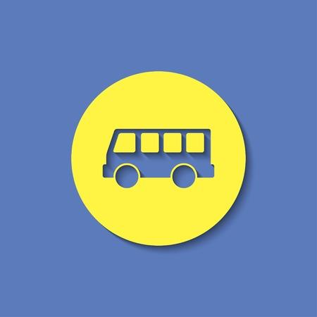 yellow schoolbus: bus stop vector icon