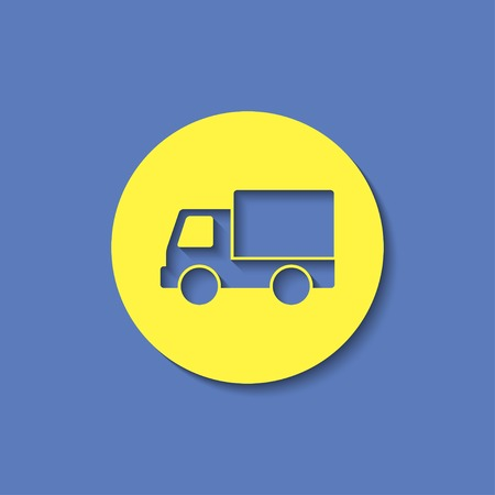 delivery truck: Truck delivery vector icon