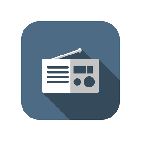 retro radio: retro radio vector icon