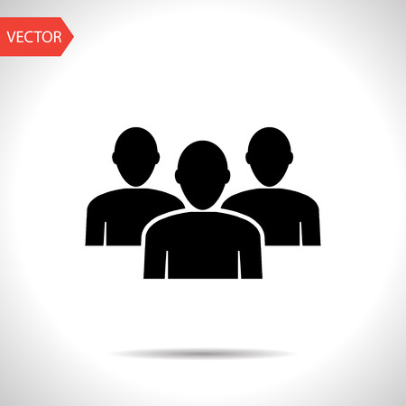 team group: Team flat icon. People group vector illustration
