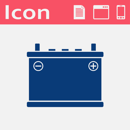 battery acid: vector flat icon of accumulator. Energy battery illustration