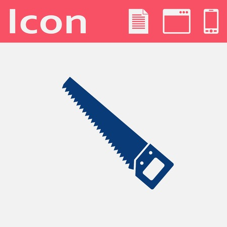 crosscut: Vector flat icon of hand saw