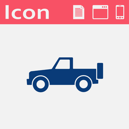 pickup: Vector flat icon of pickup Illustration