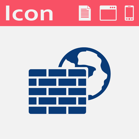 firewall: Vector flat icon of firewall